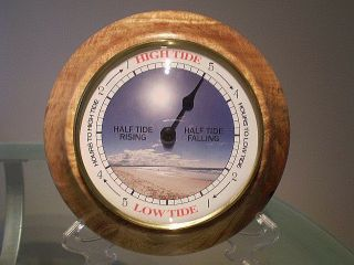 Fiddleback Mango Wood Turned Wall Tide Clock photo