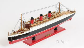 Rms Queen Mary Ocean Liner Wooden Model 32