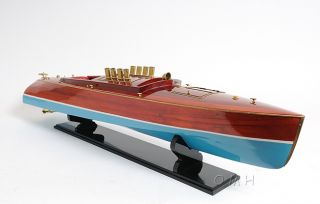 Dixie Ii Speed Boat Assembled Wood Model Runabout 36