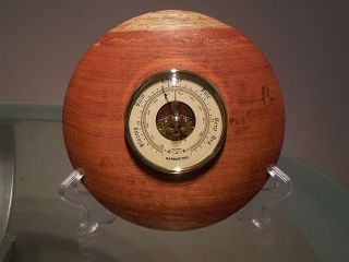 Mackay Cedar Wood Turned Wall Barometer photo