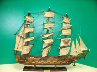 Antique Spanish Frigate Model Ship Collector Quality F photo