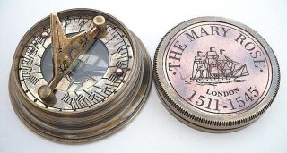 Brass Sundial Compass - The Mary Rose London photo