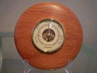 Forest Oak Wood Turned Wall Barometer photo