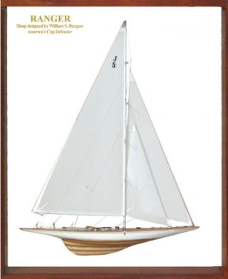 Abordage Framed Ranger Half Model Americas Cup J Boat photo