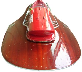 Ferrari Hydroplane Wooden Model Speed Boat photo