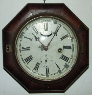 Antique Working 1840 ' S Daniel Pratt Rosewood Maritime Ship Clock; Reading,  Mass photo