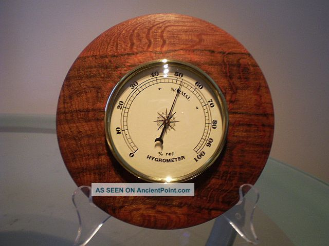 Snakewood Wood Turned Wall Hygrometer Other photo