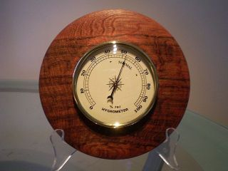Snakewood Wood Turned Wall Hygrometer photo