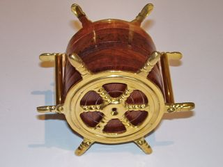 Brass Ship Wheel Coaster Set Of 6 photo