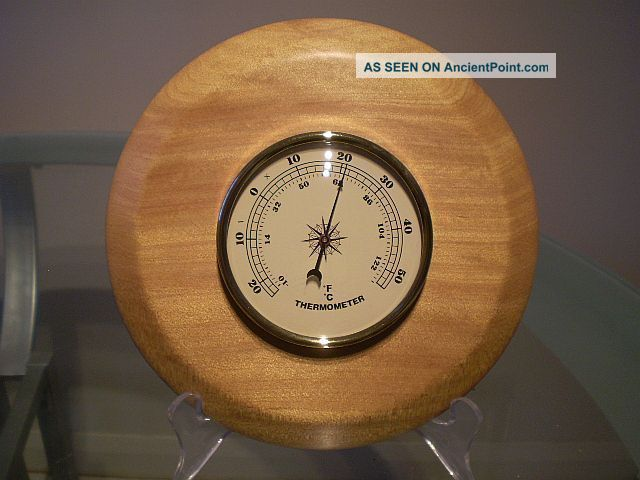 North Queensland Kauri Pine Wood Turned Wall Thermometer Other photo