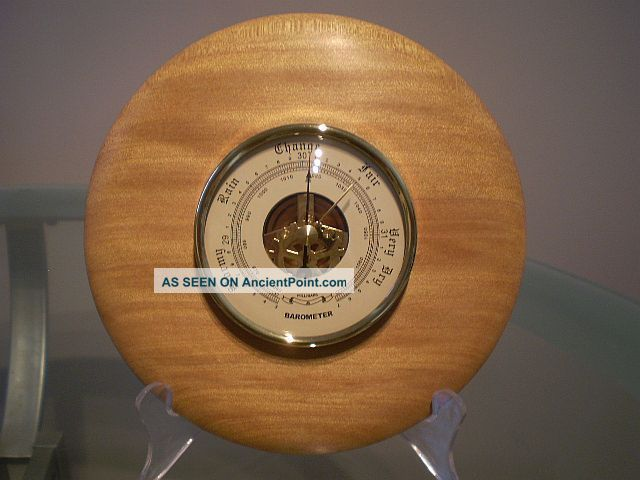 North Queensland Kauri Pine Wood Turned Wall Barometer Other photo