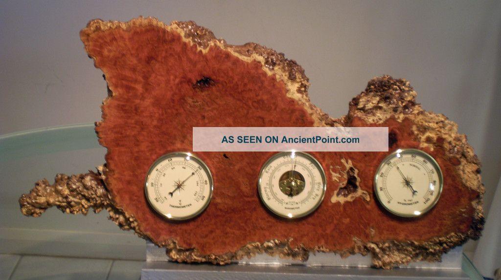 Australian Coolabah Burl Weather Station (barometer,  Thermometer & Hygrometer) Other photo
