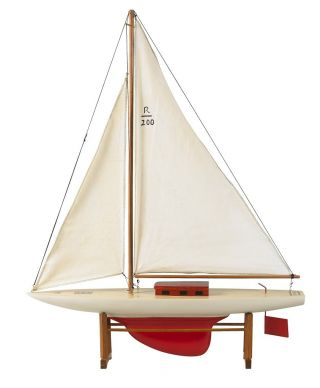 Rascal Pond Yacht,  Toy Boat,  Sailing Ship,  1920 ' S Reproduction,  Authentic Models photo