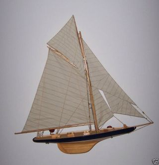1901 Columbia Sailboat Model Hand Made Vintage Classic photo