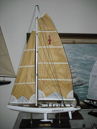 America 3 Nicest Most Detail Americas Cup Model Ever Hand Built Plank On Frame photo