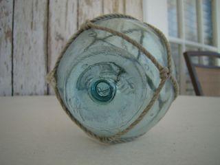 Old Japanese Glass Fishing Float Rare Vintage Buoy Ball photo