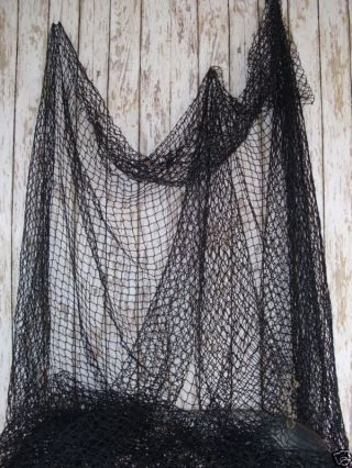 Authentic Fish Netting Fishing Net 2 ' X2 ' Black photo