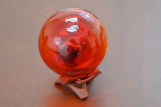 Reproduction Red Glass Float Fishing Ball 3