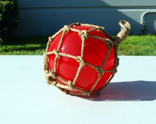 Red Glass Japanese Fishing Float 4