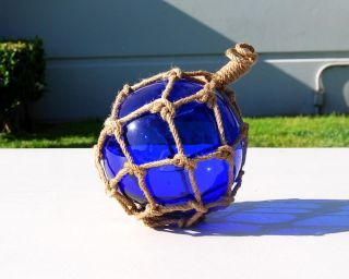 Blue Glass Japanese Fishing Float 4