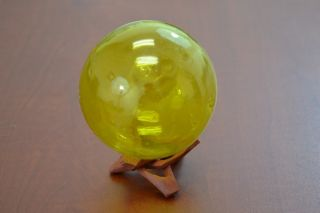 Reproduction Yellow Glass Float Fishing Ball 3