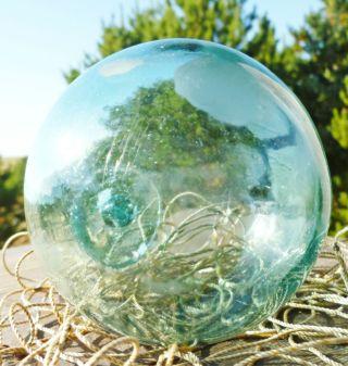 Vintage Japanese Glass Float Ball Fish Net Buoy Bouy Fishing Marked Dg Authentic photo