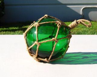 Green Glass Japanese Fishing Float 4