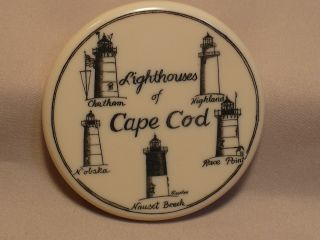 Scrimshaw Resin Magnet Lighthouse Of Cape Cod photo