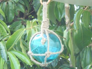 Reproduction Turquoise Glass Float Fishing Ball Buoys 5