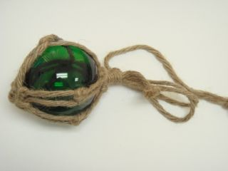 Reproduction Green Glass Float Ball With Fishing Net Buoy 3