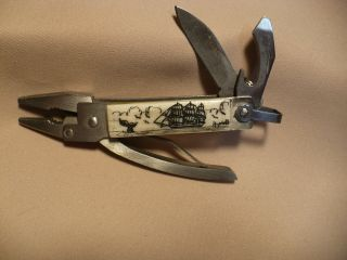 Scrimshaw Mini Mechanic Multi Tool S/ship/ Whale Tail photo