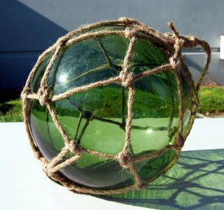 Green Glass Japanese Fishing Float 8