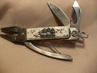 Scrimshaw Mini Mechanic Multi Tool Side Ship photo