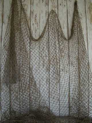 Authentic Fishing Net 10 ' X 10 ' Vintage Fish Netting photo