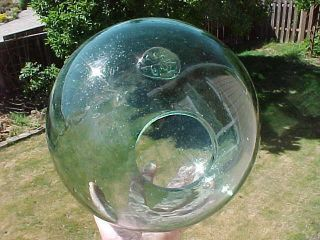 Japanese Marked Glass Float Ready For Tiki Lamp Hole Size 3