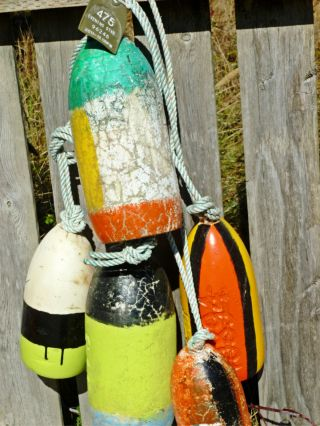 5 Beachcombed Crab Pot Floats Net Float Bouy Crayfish Shrimp Lobster Buoy 62 photo
