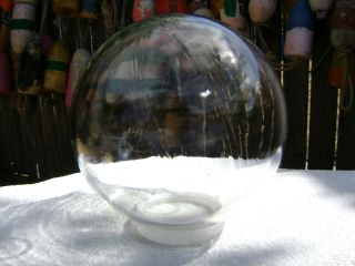 (297) 10.  03 Inch Deep Sea Scientific Sphere Glass Float Clear Ball photo