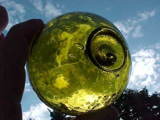 Japanese Glass Float Amber Color photo