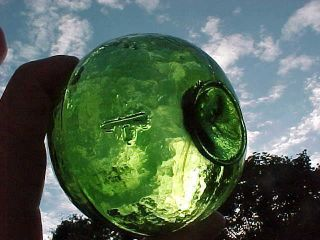 Japanese Glass Float Green Marked ' +