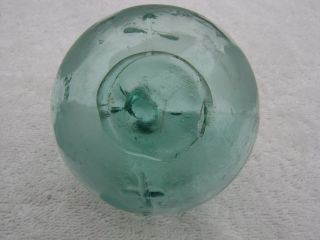 (176) Rare Korean Glass Float Ball Buoy Wp 70 Broken Cross Mark + 1 Slash photo