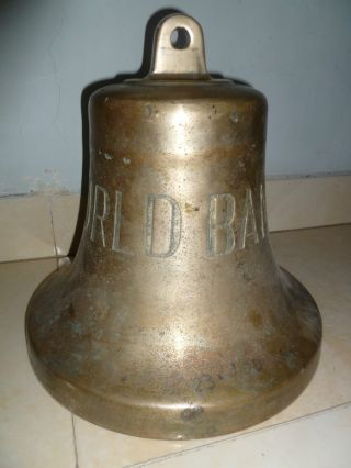 Marine Vintage Ship Brass Bell From Old Vessel -
