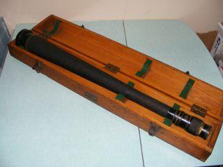 Huge 1942 Us Navy Wollensak Wwii Quartermaster Mark I Spyglass Telescope W Case photo