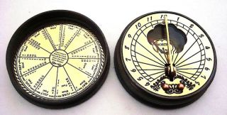 Brass Sundial Compass - Pocket Sundial Compass - London photo