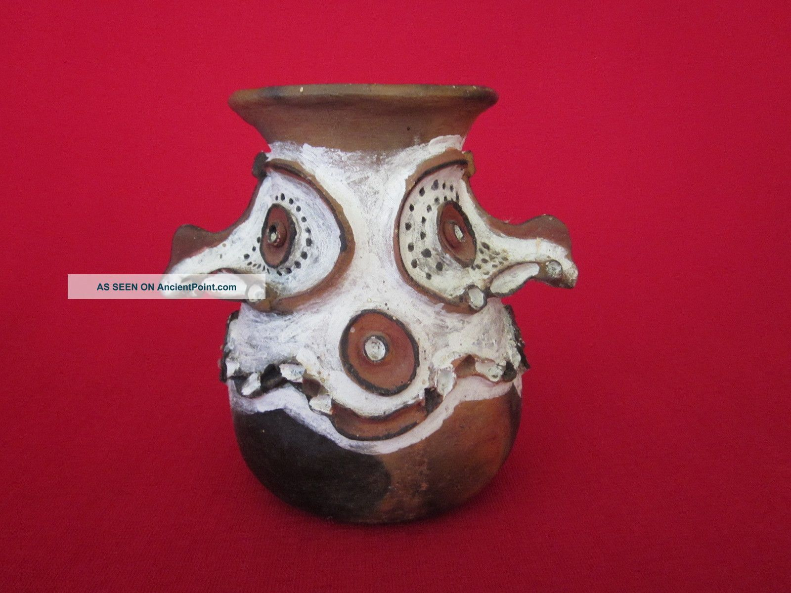 Vintage Papua New Guinea Sepik Clay Sago Pot,  Aibom,  Handmade Pacific Islands & Oceania photo
