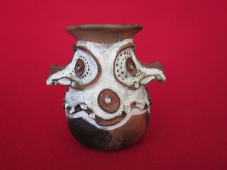 Vintage Papua New Guinea Sepik Clay Sago Pot,  Aibom,  Handmade photo
