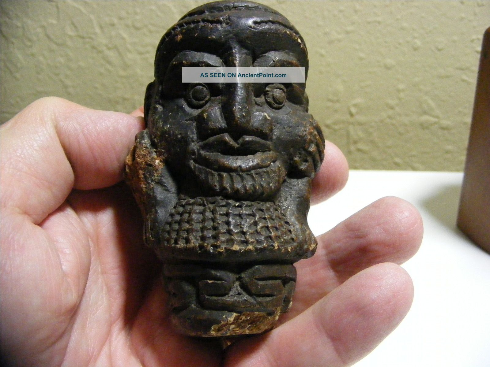 African Artifact Shamanist Pipe Bowl – Bamileke Tikar – Tribal Ritual Pipe Bowl Other photo