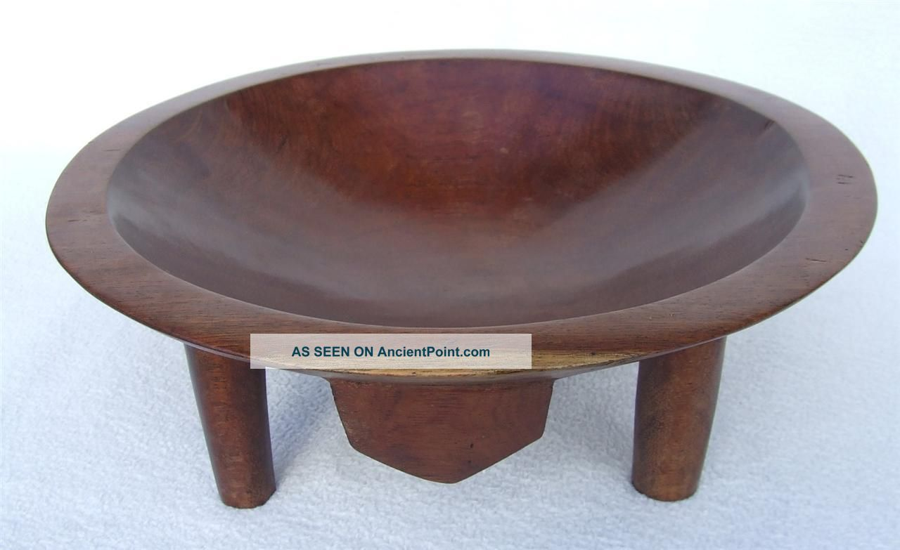 Vintage C1950 ' S - 70 ' S Fijian Fiji Islands Carved Wooden Kava Bowl Pacific Islands & Oceania photo