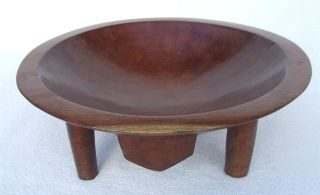Vintage C1950 ' S - 70 ' S Fijian Fiji Islands Carved Wooden Kava Bowl photo