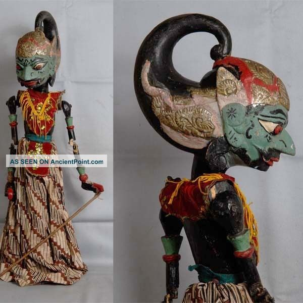 Indonesien Javanese Wayang Golek Marionette Wooden Carved Rod Puppet Jawa Gm83 Pacific Islands & Oceania photo
