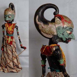 Indonesien Javanese Wayang Golek Marionette Wooden Carved Rod Puppet Jawa Gm83 photo